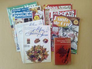 Libro y Revistas de Manualidades y Punto de Cruz
