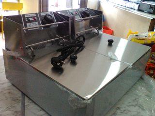 freidora dos cubas nueva industrial