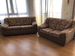 conjunto sofá cama 3 plazas + sofá 2 plazas