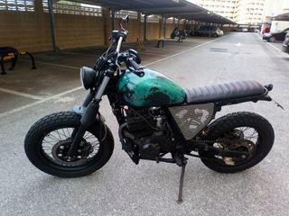 moto honda dominator 650 nx scrambler /cafe racer