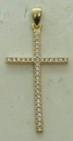Cruz oro y circonitas