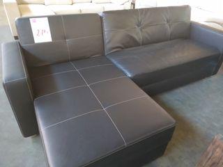 Sofa chaise longue cama negro
