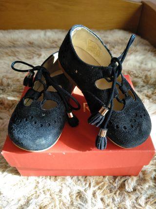 zapatos azul marino de ante