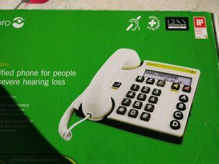 Teléfono personas problemas auditivos.