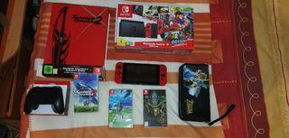 Nintendo Switch, juegos y Mando Pro
