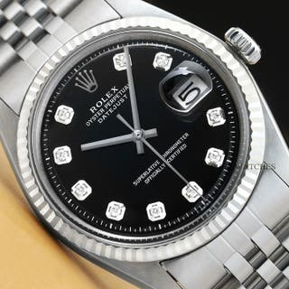Hommes Rolex Datejust 18K or Blanc