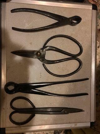 Lote herramientas bonsai