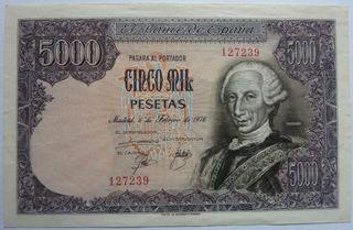 Billete 5000 pesetas Carlos III