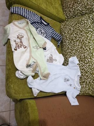 4 pijamas bebé 0-3 meses