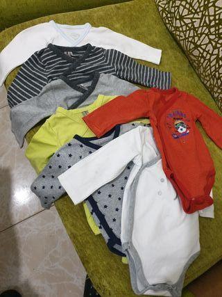 pack de 7 bodys 0-6 meses
