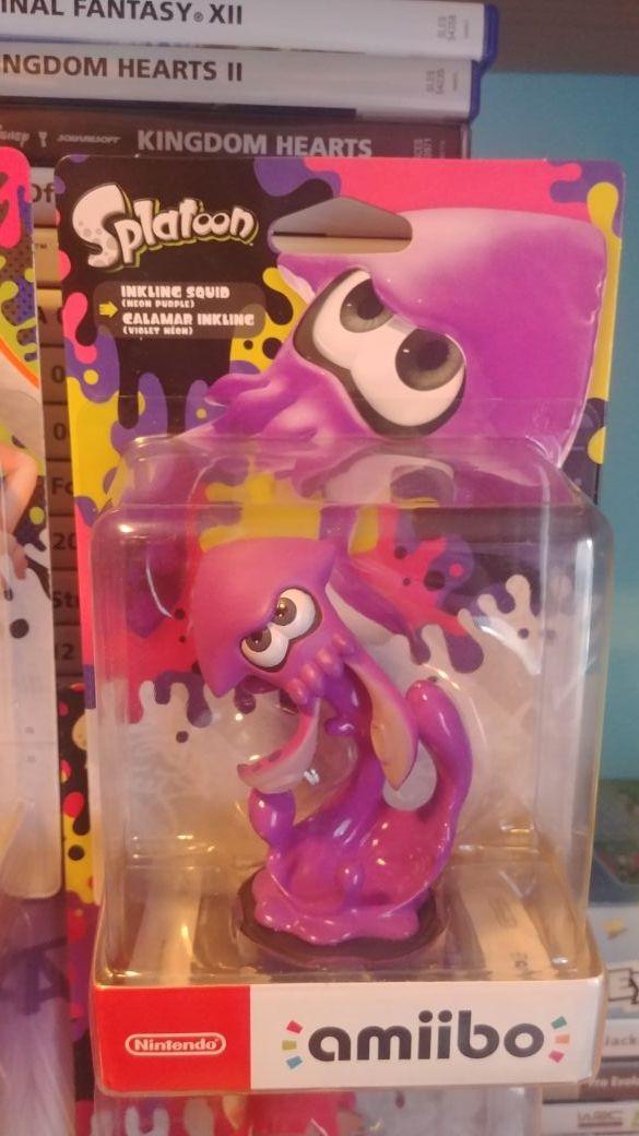 amiibo splatoon inkling squid neon purple