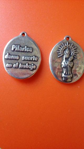 Medalla Virgen del Pilar. Baño en plata