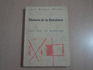 Libro antiguo. Historia de la literatura. 1963