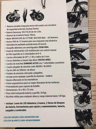 Bicicleta eléctrica Littium ¡¡¡¡¡OFERTA!!!!!