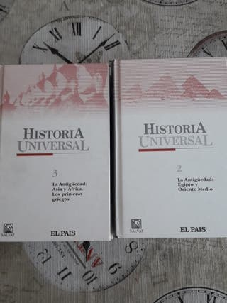 2 libros de Historia universal