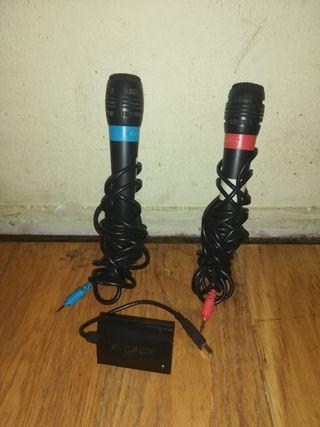 Micrófonos singstar. Microphones singstar.