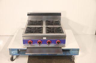 Cocina de 4 fuegos butano uso profesional