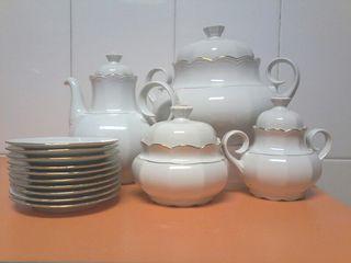 piezas de vajilla porcelana santa clara