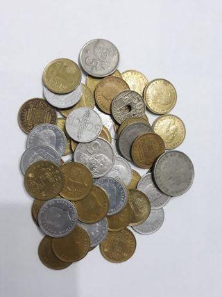 Lote de monedas de peseta