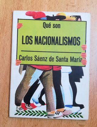 libro título que son los nacionalismos