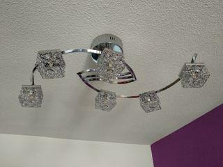 2 lamparas led 3 colores con mando a distancia