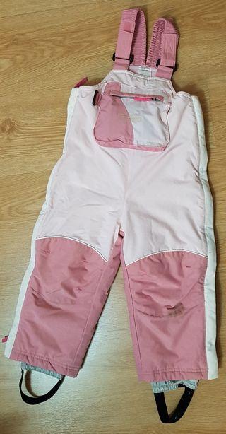 Pantalón de esquí infantil rosa.