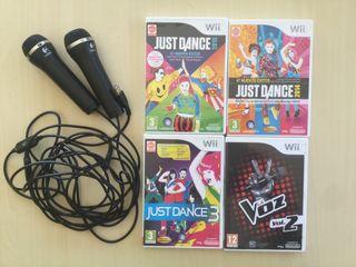 Juegos para Wii con 2 micros incluidos