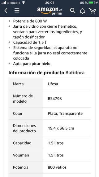 Batidora UFESA 800w