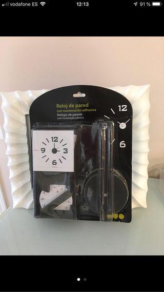 Reloj pared adhesivo sin abrir