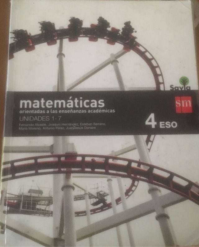 Libro Matematicas Cuarto E.S.O de segunda mano por 8 € en León en ...
