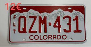 Colorado, Matriculas Americanas