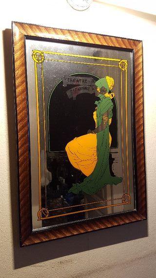 Cuadro espejo vintage