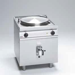 Marmita a gas 80 lts. de fuego directo