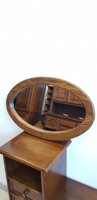 Espejo Rustico Ovalizado