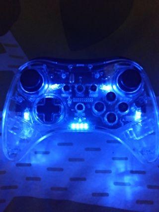Mando Pro transparente inalámbrico para Wii U