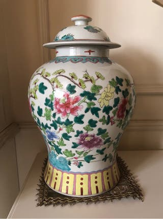 Jarrón de porcelana china - Gerro decoratiu