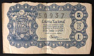 Billete de lotería nacional de 1959 + regalo filat