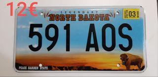Dakota del Norte, Matriculas Americanas