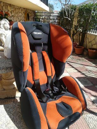 silla Recaro coche grupo 1 y 2