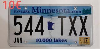 Minnesota, Matriculas Americanas