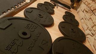 Set de pesas y discos gym