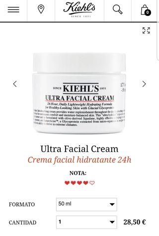 Crema facial hidratante Kiehl's