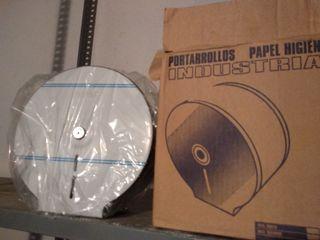 portarrollos papel higiénico industrial