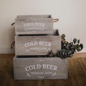 Conjunto de 3 cajas de madera para decorar