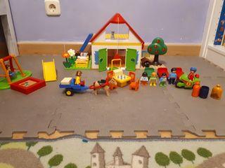 Granja playmobil y parque infantil 123