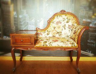 Silla Telefonera antigua restaurada divan