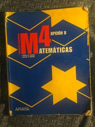 Matematicas opción B libro de texto Anaya 4° ESO