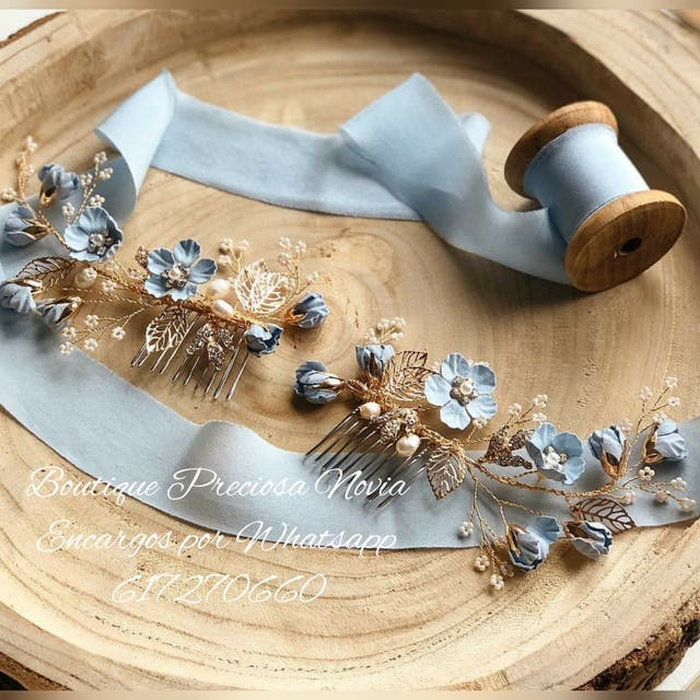 Peineta de novia o invitada hecha a mano
