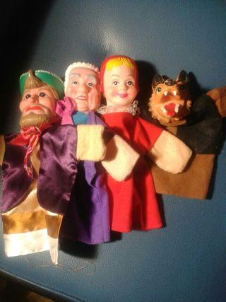 Marionetas del cuento de Caperucita