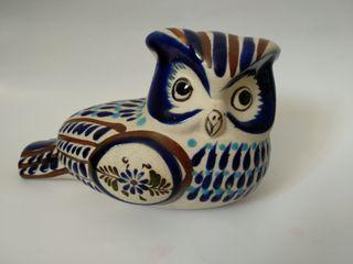 Búho cerámica esmaltado